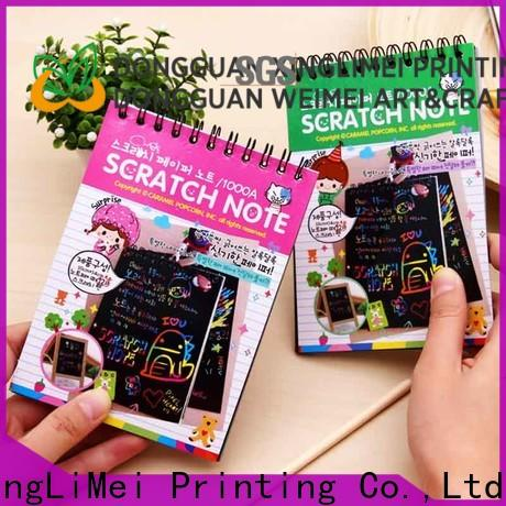 XingLiMei painting magic color scratch paper factory for lesson