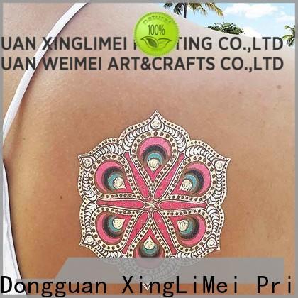 XingLiMei designs metallic fake tattoos company for beauty