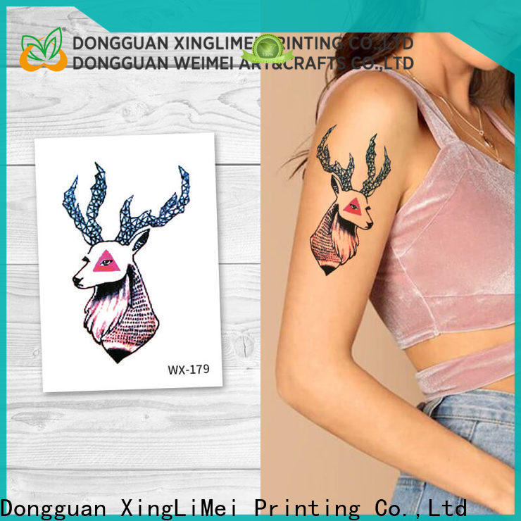 XingLiMei safe best temporary tattoos Supply for decorative