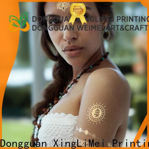 XingLiMei Custom metallic temporary tattoos manufacturers for wedding
