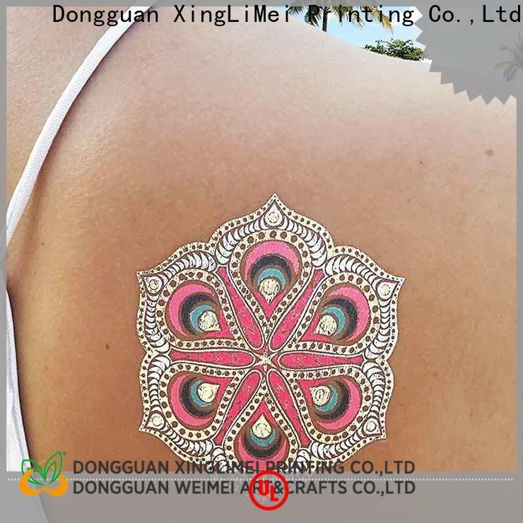 Latest metallic jewelry tattoos shiny manufacturers for wedding