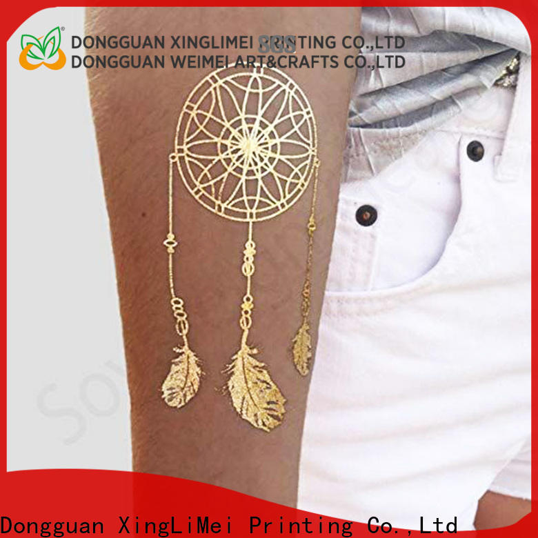 XingLiMei Wholesale metallic temporary tattoos shipped to business for wedding