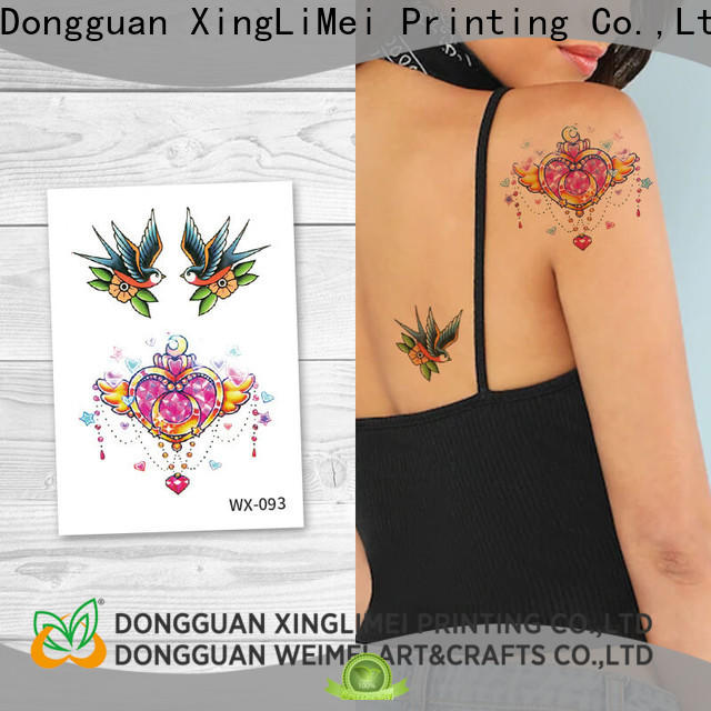 XingLiMei wx089 water transfer tattoos company for decorative