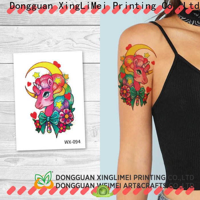 XingLiMei color non-toxic temporary tattoos Supply for beauty
