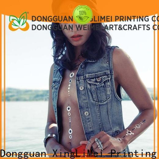 XingLiMei body metallic fake tattoos manufacturers for wedding