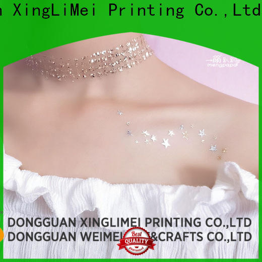 XingLiMei Wholesale metallic temporary tattoos factory for necklace