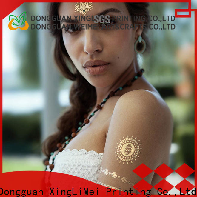 Custom metallic jewelry tattoos temporary factory for face
