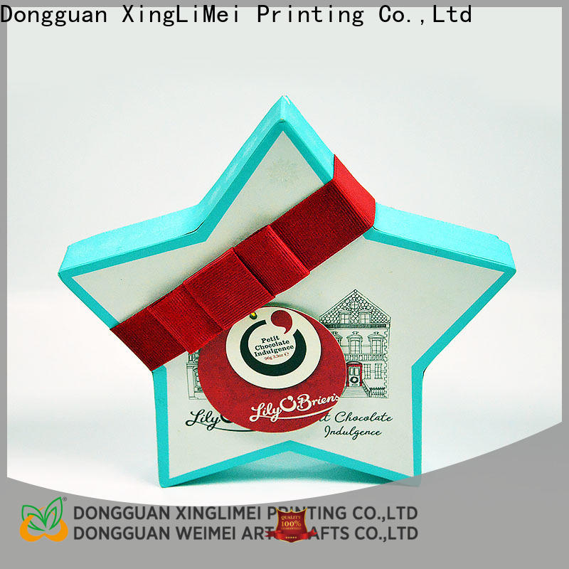 XingLiMei logo custom printed boxes shipped to business for friends