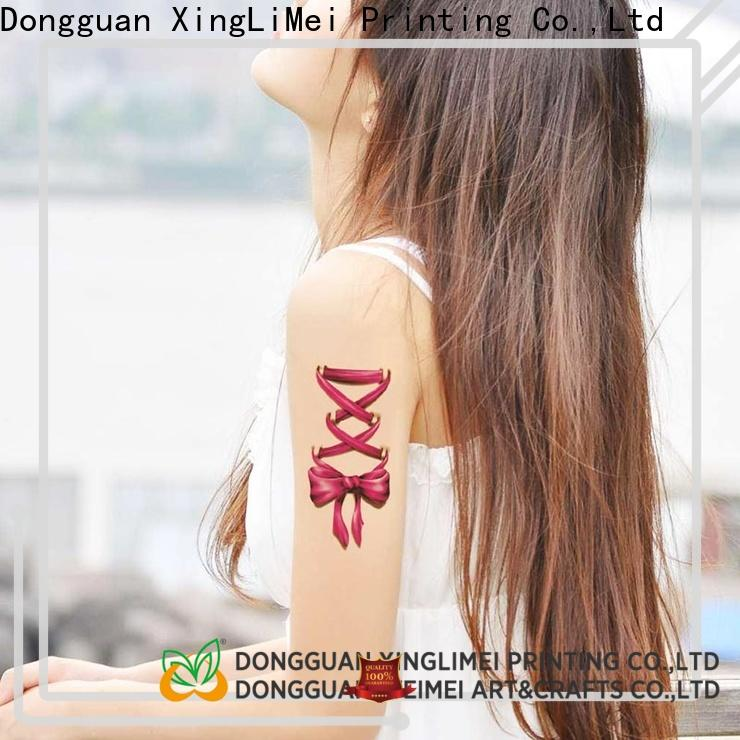 XingLiMei be custom made temporary tattoos factory for make up