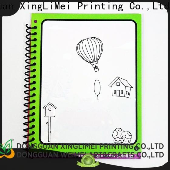 XingLiMei Custom water colouring book shipped to business for lesson