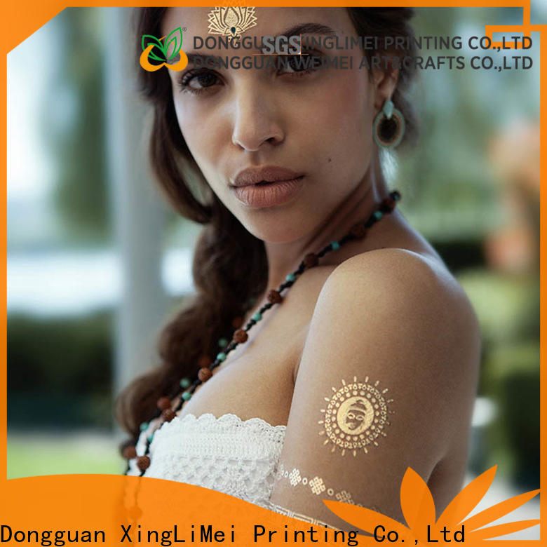 Best gold metallic temporary tattoos makeup Supply for face