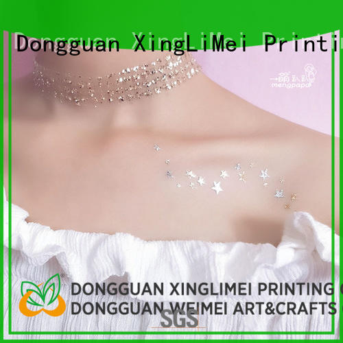 XingLiMei art gold metallic temporary tattoos artist for wedding
