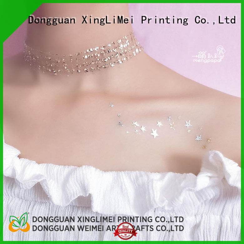 XingLiMei Metallic metallic tattoo stickers supply for wedding