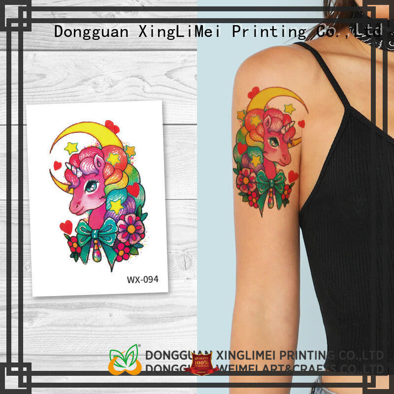 XingLiMei adult non-toxic temporary tattoos quotes for party