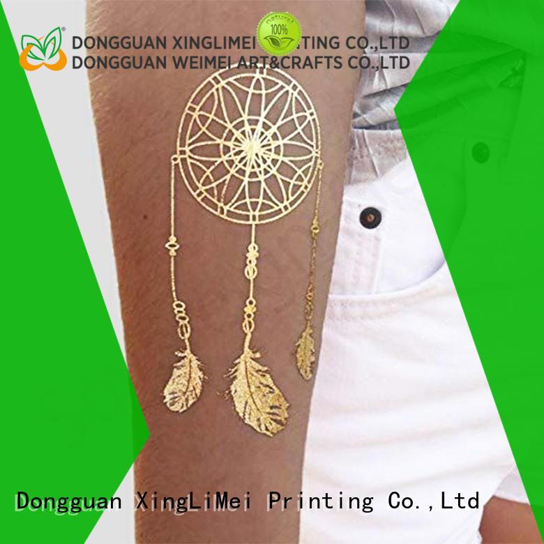 jewelry metallic transfer tattoos supplier for wedding
