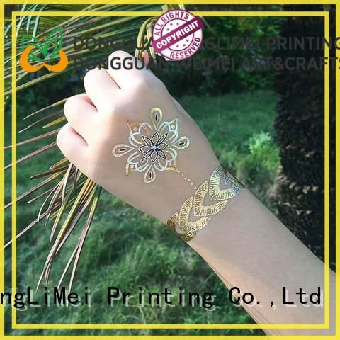 XingLiMei Metallic temporary jewelry tattoos supply for beauty