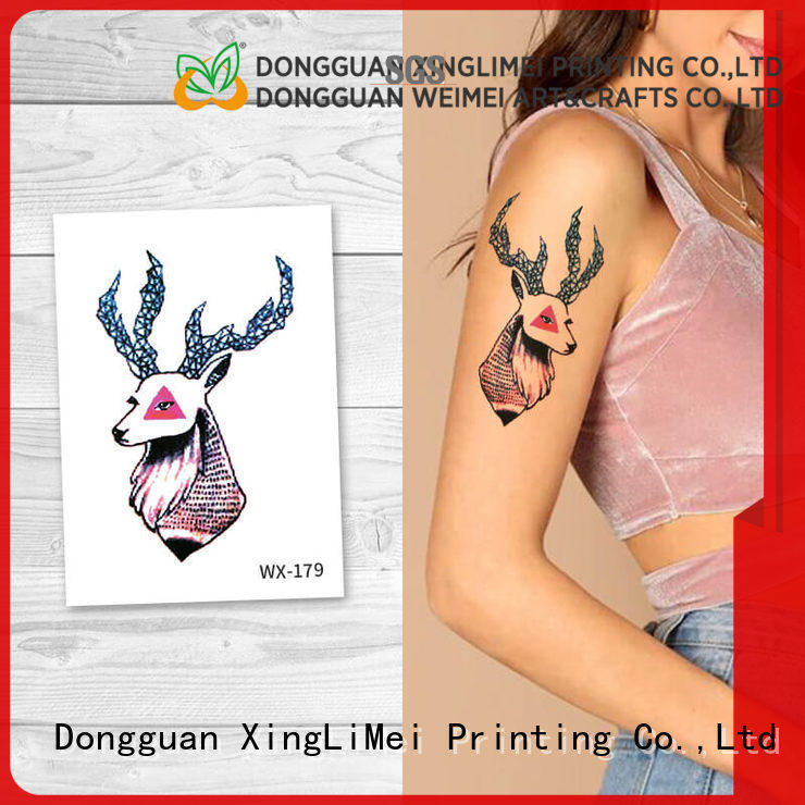 XingLiMei forearm color temporary tattoos prices for wedding