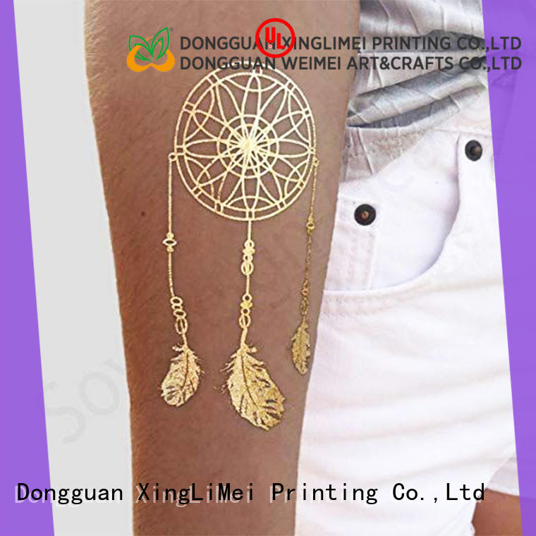 shimmer metallic jewelry tattoos transfer supplier for necklace
