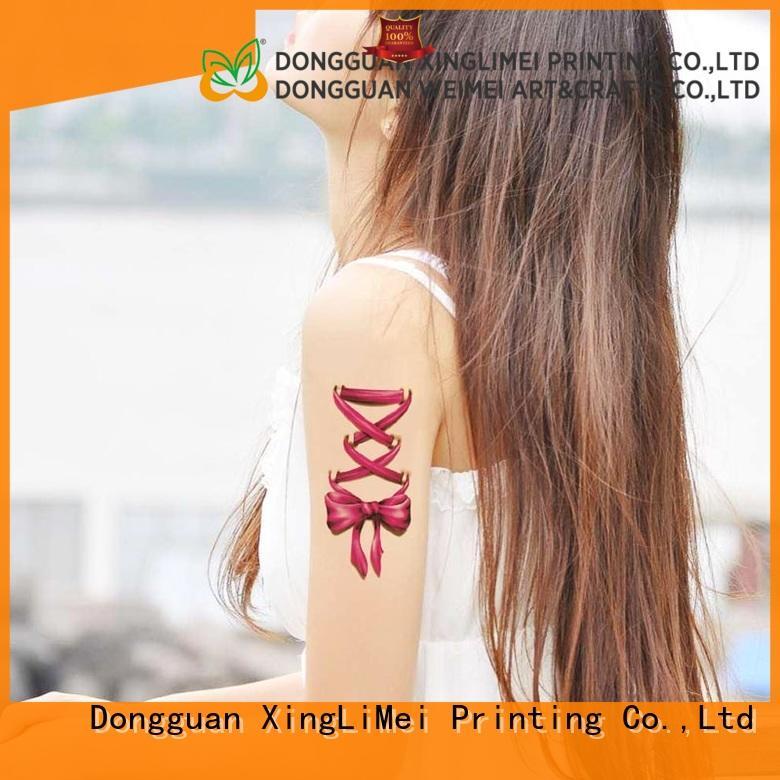 XingLiMei flower custom made temporary tattoos factory for shops