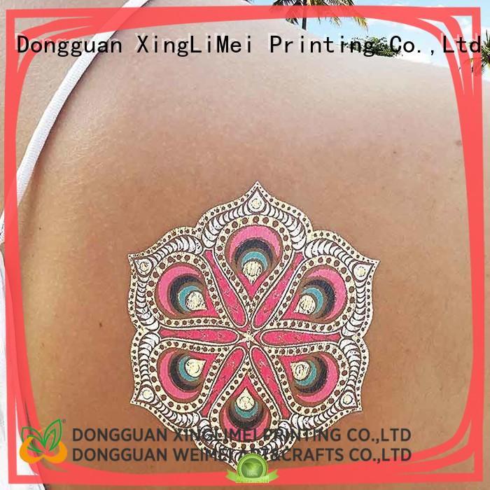 XingLiMei star metallic body tattoos women for beauty