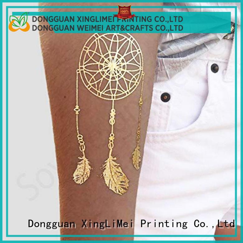 gold metallic body tattoos art supply for beauty