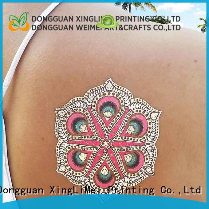 XingLiMei water temporary jewelry tattoos patterns for wedding