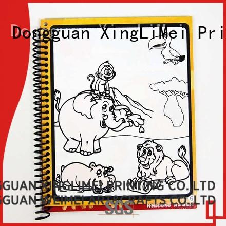 XingLiMei customized watercolor coloring book supplies for lesson