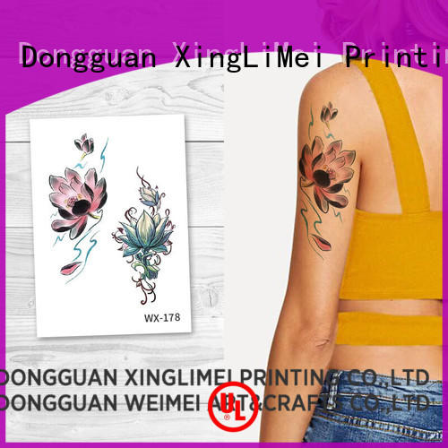 XingLiMei Brand art butterfly color temporary tattoos animal factory
