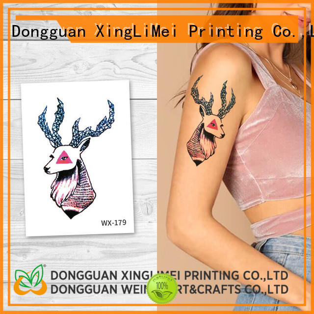 XingLiMei full color water transfer tattoos for adult for party