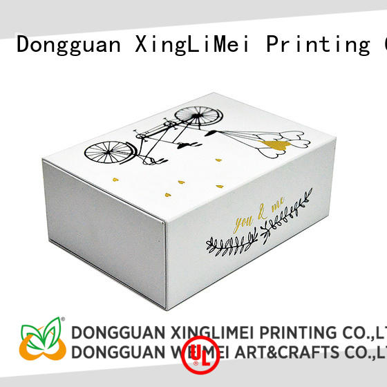 Customized custom printed boxes stamping for weddings for friends