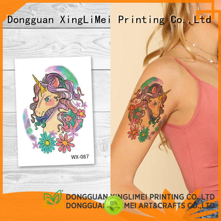 XingLiMei butterfly animal temporary tattoos factory price for party