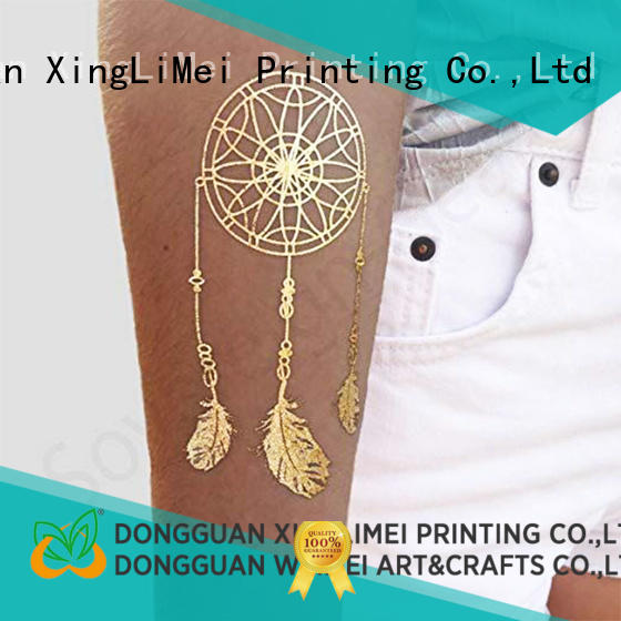 XingLiMei jewelry custom gold temporary tattoos patterns for necklace