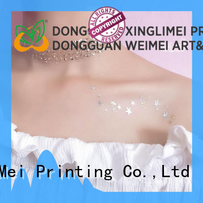 XingLiMei jewelry metallic body stickers body for face