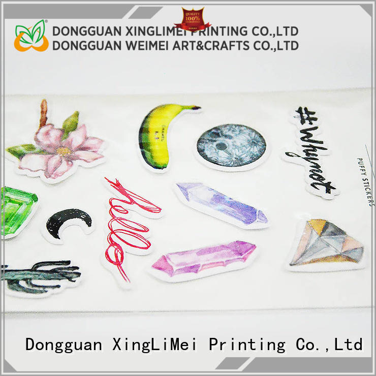 XingLiMei stickers custom made stickers labels for wall