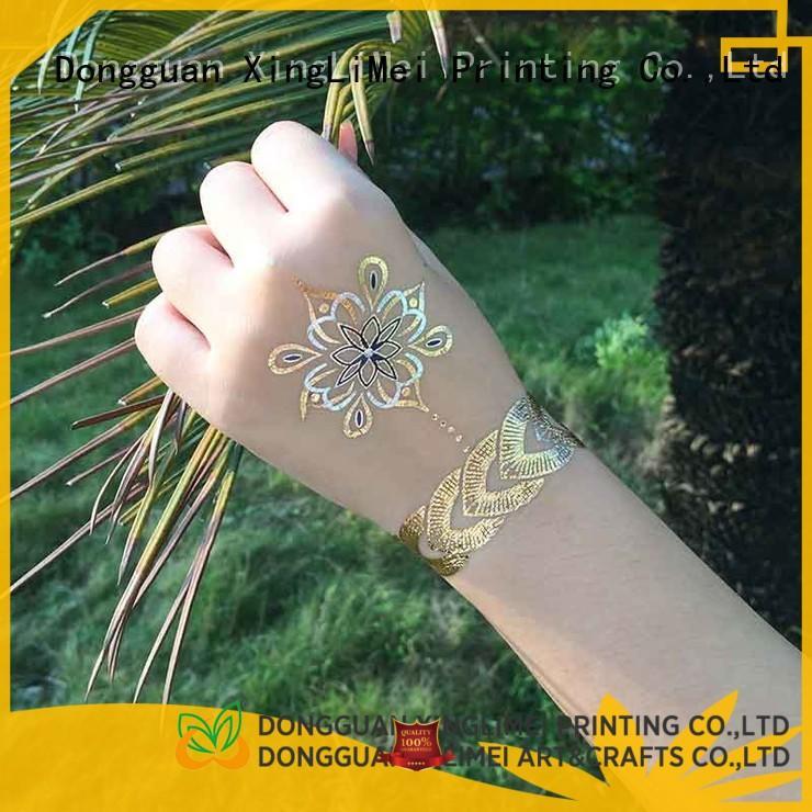 XingLiMei water metallic tattoo stickers supplier for wedding