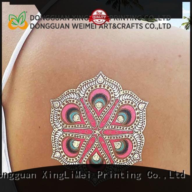 shimmer metallic transfer tattoos shiny supplier for wedding