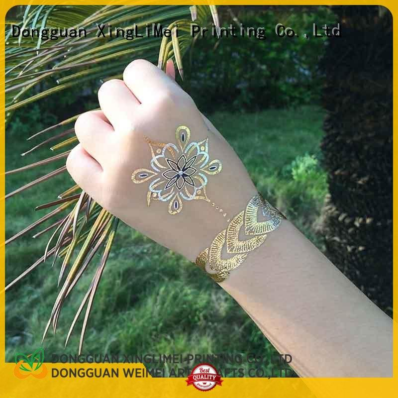 XingLiMei tattoo metallic temporary tattoos supplier for necklace