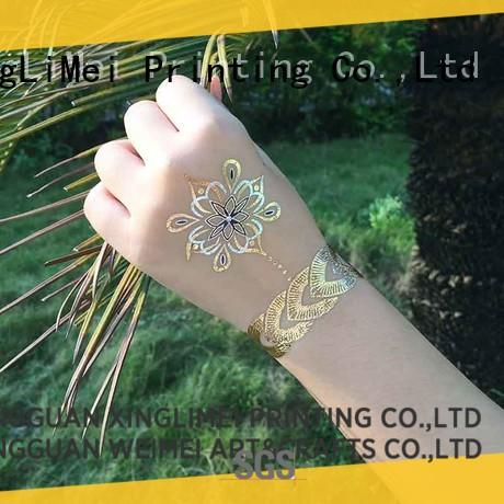 gold custom gold temporary tattoos art supply for necklace