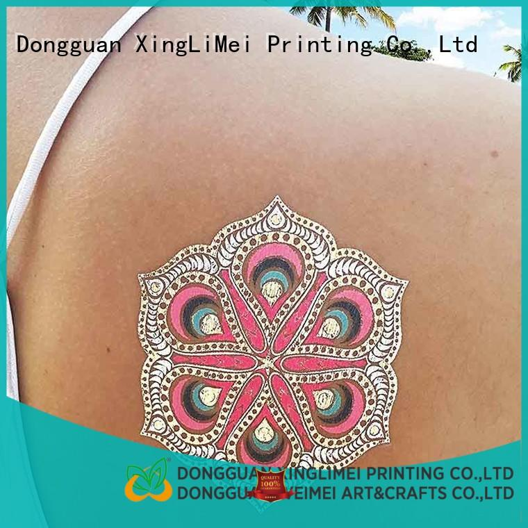 XingLiMei Metallic metallic temporary tattoos patterns for necklace