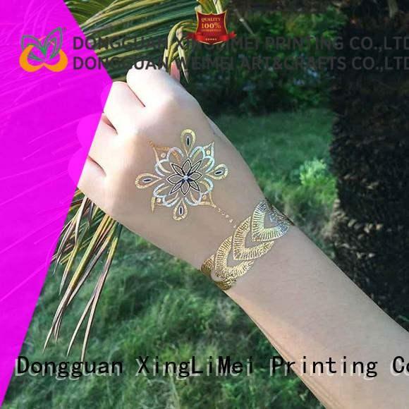 XingLiMei inspired temporary jewelry tattoos patterns for necklace