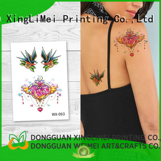 XingLiMei full color temporary tattoos for adults that look real girls for party