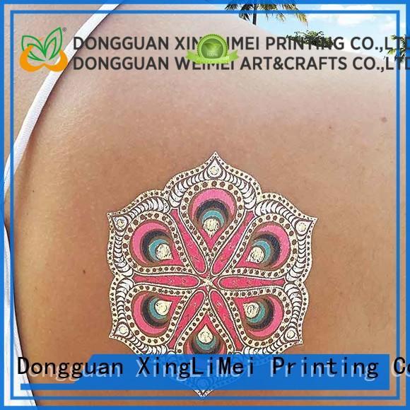 XingLiMei silver metallic jewelry tattoos artist for beauty