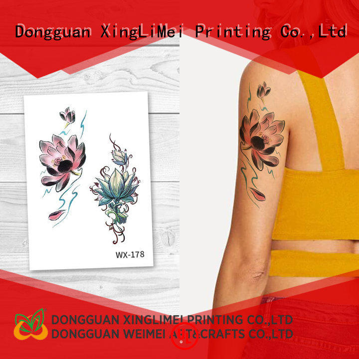 XingLiMei full color water transfer tattoos for girls for party