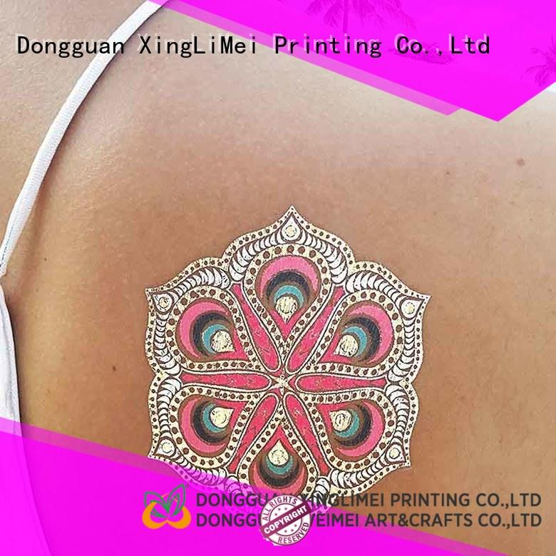 transfer metallic body tattoos maker face XingLiMei