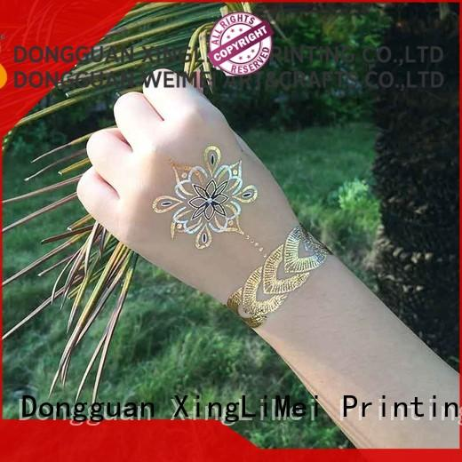 XingLiMei cosmetic metallic temporary tattoos supplier for wedding