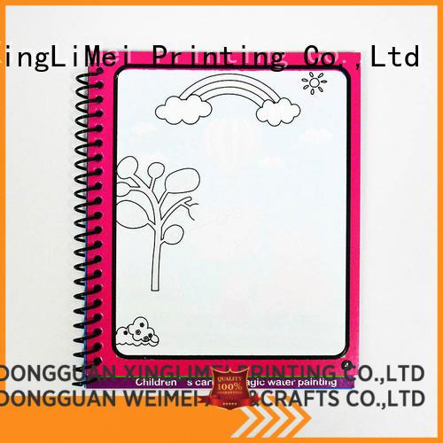 XingLiMei watercolor reusable water coloring book tutorial for school