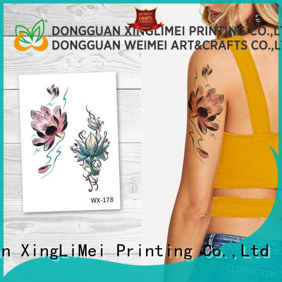 XingLiMei fake adult tattoos factory price for wedding