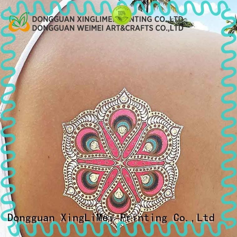XingLiMei star custom gold temporary tattoos patterns for face