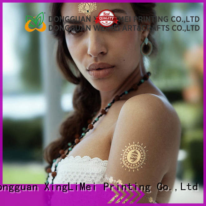 jewelry metallic temporary tattoos transfer artist for face