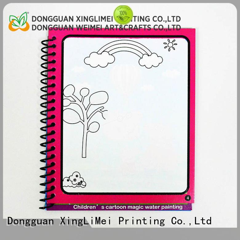 XingLiMei educational magic water colouring book tutorial for school